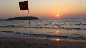 Puesta del sol en Goa, la India almacen de metraje de vídeo
