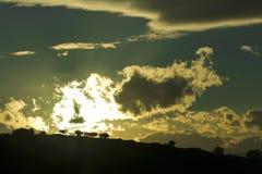 Puesta del sol en Gran Sasso - Italia Imagen de archivo libre de regalías