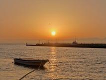 Puesta del sol en Hakone Foto de archivo libre de regalías