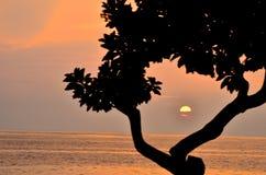 Puesta del sol en Hawaii Fotos de archivo
