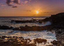 Puesta del sol en Hawaii Imagen de archivo