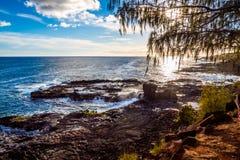 Puesta del sol en Hawaii Foto de archivo