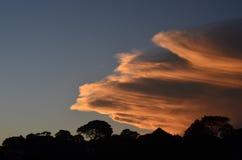 Puesta del sol en Hillcrest Imagen de archivo libre de regalías