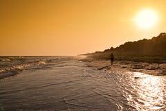 Puesta del sol en Hilton Head, SC Foto de archivo