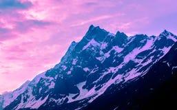 Puesta del sol en Himalaya Fotos de archivo libres de regalías