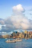 Puesta del sol en Hong-Kong Imagenes de archivo