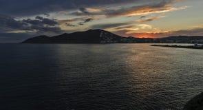 Puesta del sol en Ibiza Foto de archivo