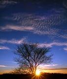 Puesta del sol en Illinois Imagen de archivo libre de regalías