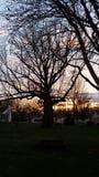 Puesta del sol en Indiana Imagen de archivo