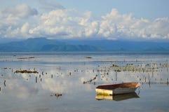 Puesta del sol en Indonesia Imagen de archivo