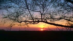 Puesta del sol en Inglaterra Imagen de archivo libre de regalías