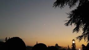Puesta del sol en invierno Imagenes de archivo