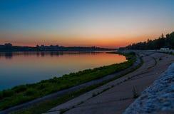 Puesta del sol en Irkutsk Fotos de archivo