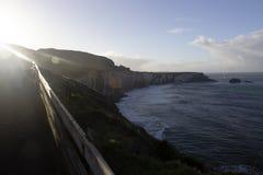 Puesta del sol en Irlanda foto de archivo libre de regalías