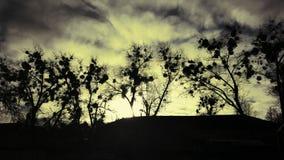 Puesta del sol en Irpin Imagen de archivo