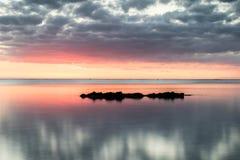 Puesta del sol en Isla Mauricio Fotografía de archivo libre de regalías