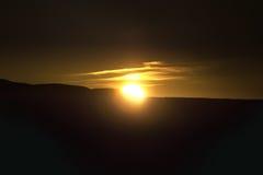 Puesta del sol en Islandia. Fotos de archivo libres de regalías