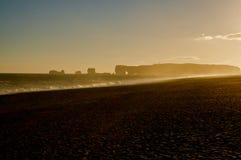 Puesta del sol en Islandia Imágenes de archivo libres de regalías