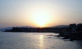 Puesta del sol en Italia Fotografía de archivo