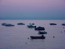 Puesta del sol en Italia Foto de archivo libre de regalías