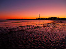 Puesta del sol en Jersey Imagen de archivo libre de regalías