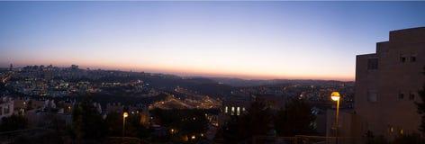 Puesta del sol en Jerusalén Fotografía de archivo libre de regalías