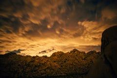 Puesta del sol en Joshua Tree National Park Fotos de archivo libres de regalías
