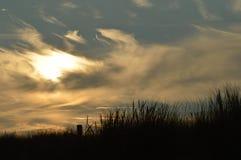 Puesta del sol en Julianadorp Países Bajos Imagenes de archivo
