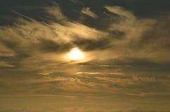 Puesta del sol en Julianadorp Países Bajos Foto de archivo libre de regalías