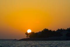 Puesta del sol en Key West Fotos de archivo libres de regalías