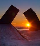 Puesta del sol en Kingston, Ontario, Canadá Fotos de archivo libres de regalías