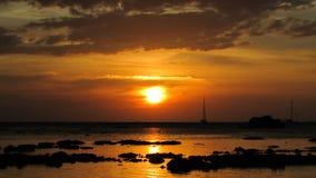 Puesta del sol en Koh Lipe Imagen de archivo