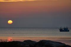 Puesta del sol en Koh Phangan Fotos de archivo