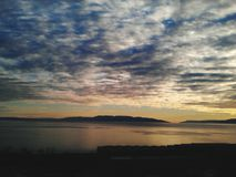 Puesta del sol en Kvarner Foto de archivo libre de regalías