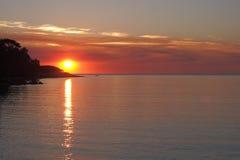 Puesta del sol en la bahía de Fannie, Foto de archivo libre de regalías