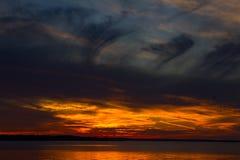 Puesta del sol en la bahía georgiana Foto de archivo libre de regalías