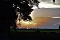 Puesta del sol en la cala pantanosa Imagen de archivo libre de regalías