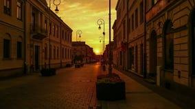 Puesta del sol en la ciudad Fotografía de archivo libre de regalías