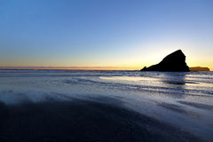 Puesta del sol en la costa de Oregon Fotografía de archivo