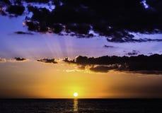 Puesta del sol en la Costa del Golfo 3 Imagenes de archivo