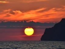 Puesta del sol en la Crimea, Ucrania fotos de archivo