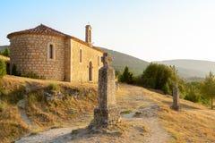 Puesta del sol en la ermita fotografía de archivo libre de regalías