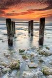 Puesta del sol en la Florida fotografía de archivo libre de regalías