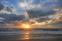 Puesta del sol en la Florida Imagen de archivo