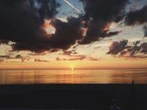 Puesta del sol en la Florida Foto de archivo libre de regalías