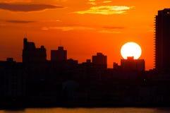 Puesta del sol en La Habana, Cuba Foto de archivo