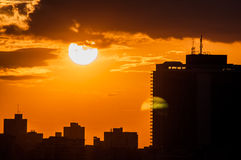 Puesta del sol en La Habana, Cuba Imagenes de archivo
