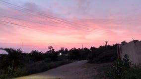 Puesta del sol en la India fotos de archivo libres de regalías