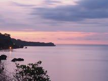 Puesta del sol en la isla de Bali Imagen de archivo