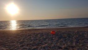 Puesta del sol en la isla de Corfú imagen de archivo